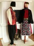 Мъжка и женска носия, характерна за преселници балканджии, XIX в. - Исторически музей град Провадия