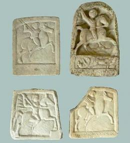 Мраморни оброчни плочки с изображение на тракийския Бог-Конник – Херос; Античност - Исторически музей град Провадия