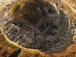 Най-ранния Праисторически солодобивен и градски център Провадия-Солницата - поглед отгоре - Исторически музей град Провадия